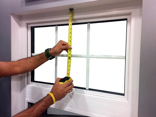 طریقه اندازه گیری پنجره
